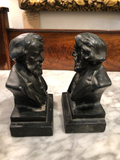 Vintage Longfellow Bookends, a Pair