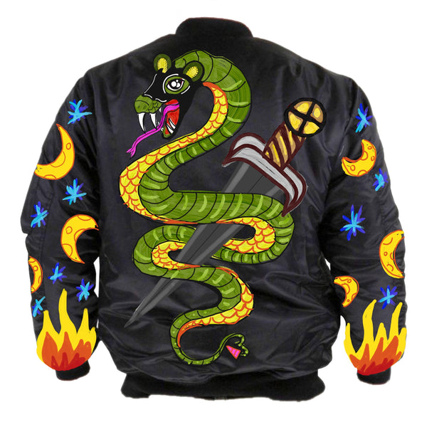 COSMIC SERPENT - UNISEX BOMBER - Shop Wilde Unicorn