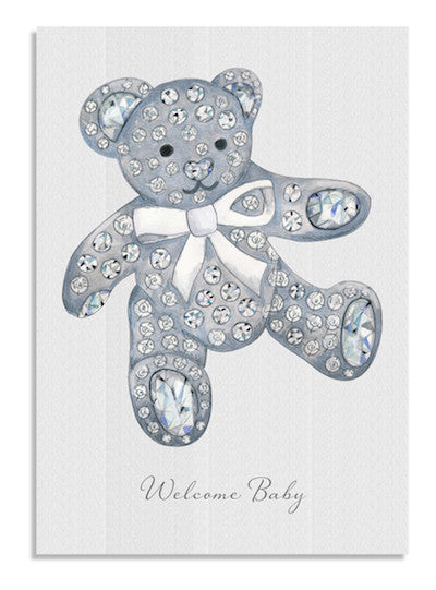 Crystal Teddy card