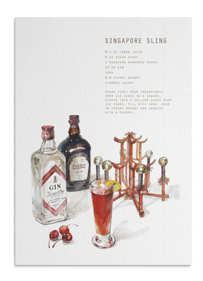 Singapore sling card