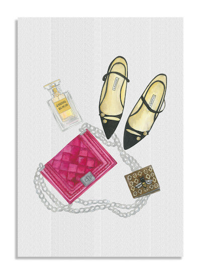 Velvet bag card NEW