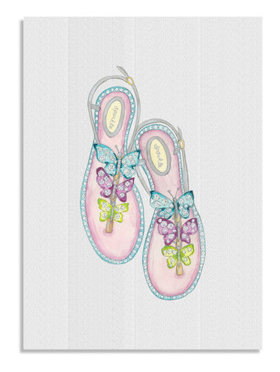 Candy sandals card