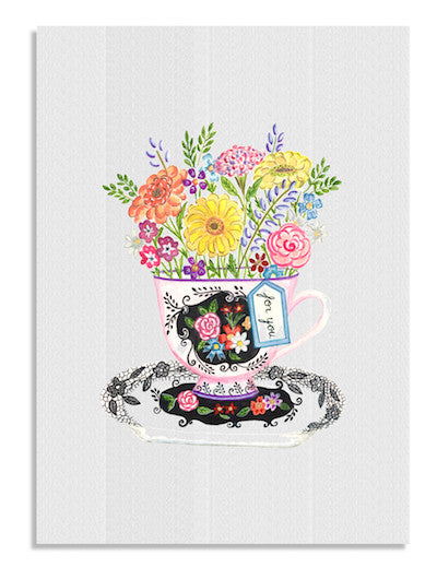 Teacup Flowers cards