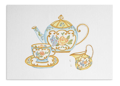 Porcelain Tea card