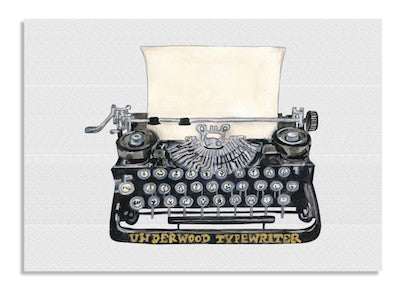 Black Typewriter card