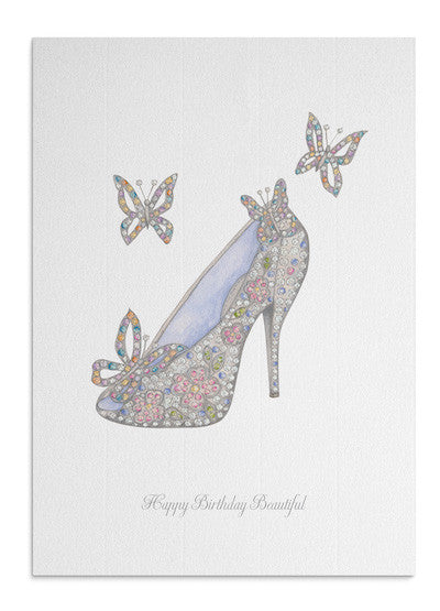 Crystal Butterfly Shoe card
