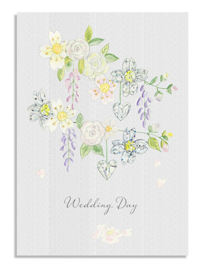 Diamond Blossom Wedding card