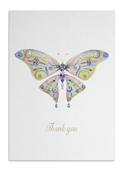 Pastel Butterfly Thank You card