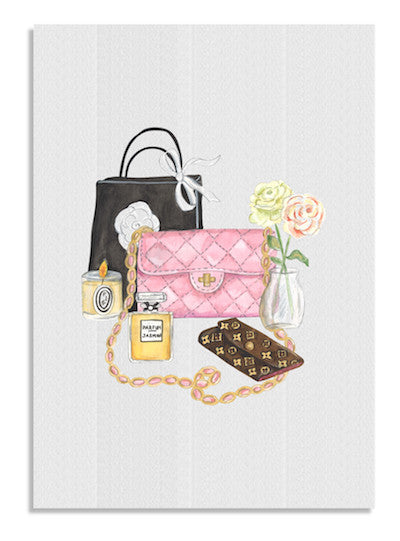 Rose Handbag card