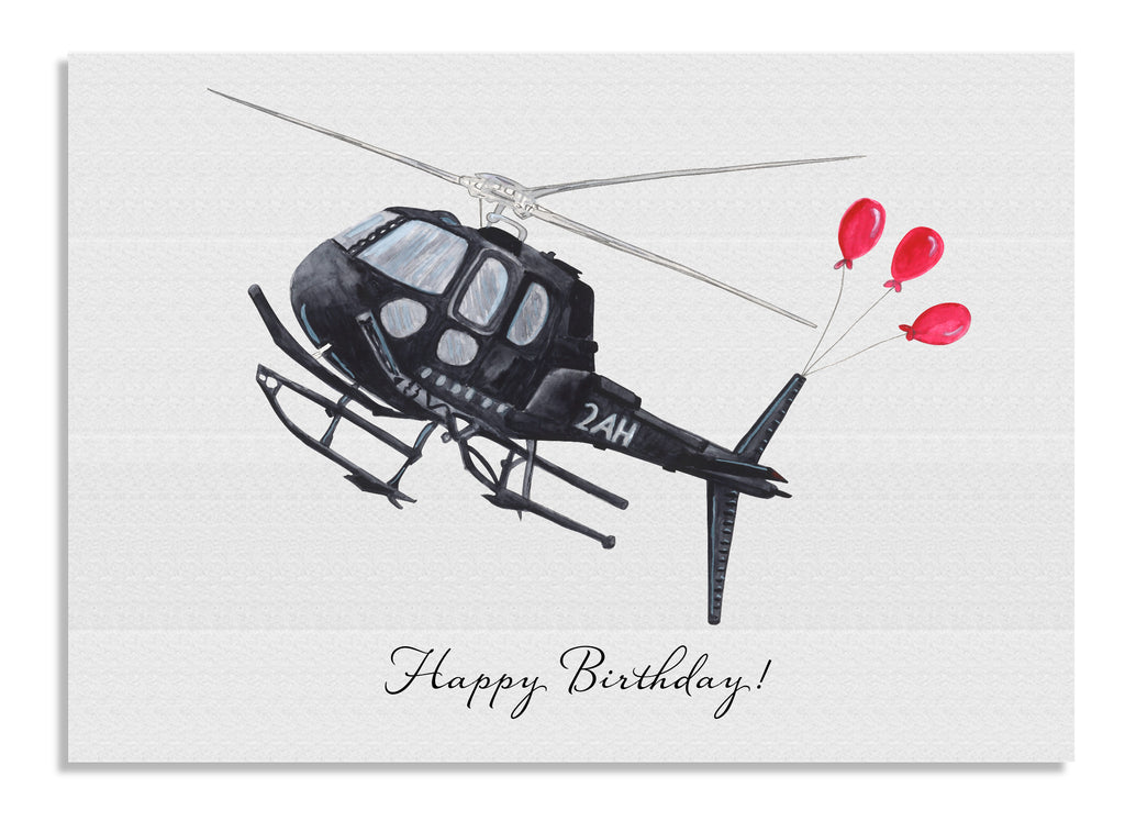 Helicopter Balloons card
