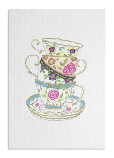 English Teacups card