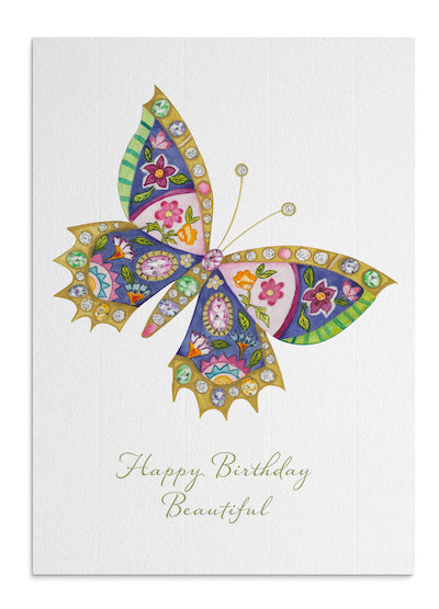 French Butterfly card
