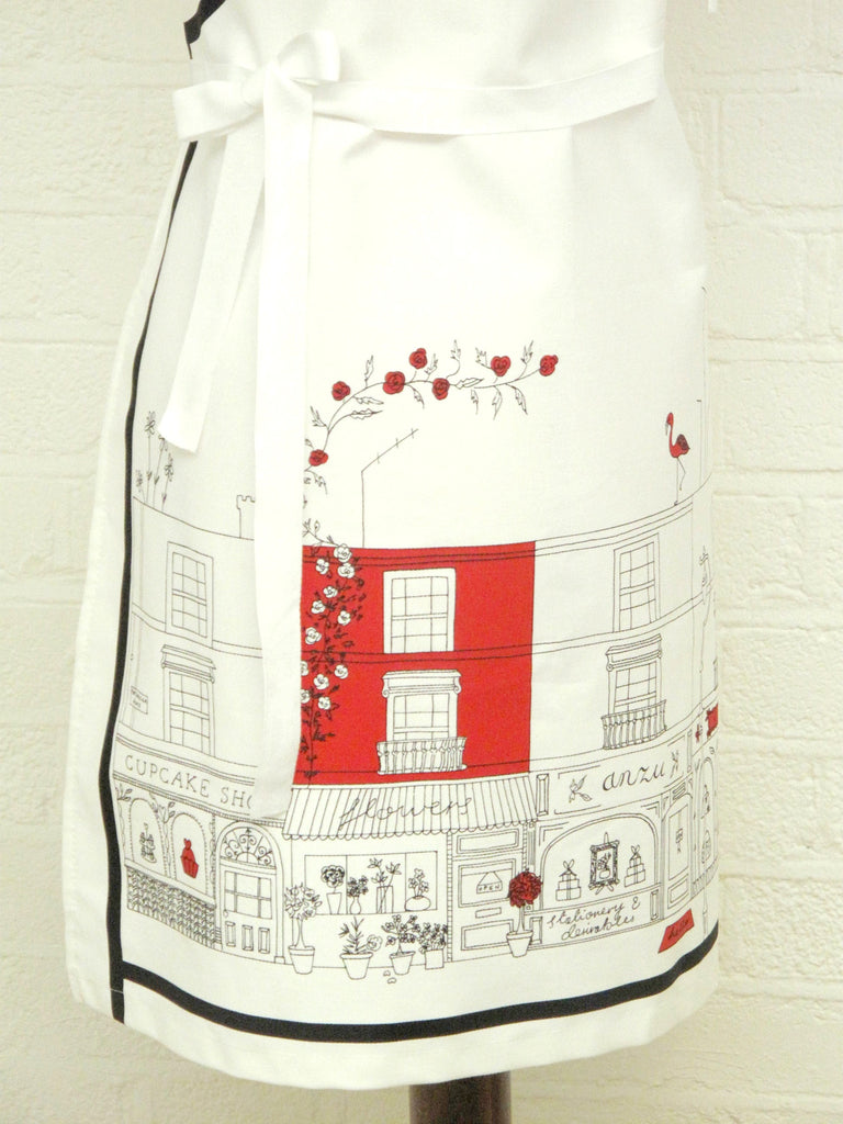 Notting Hill apron, red