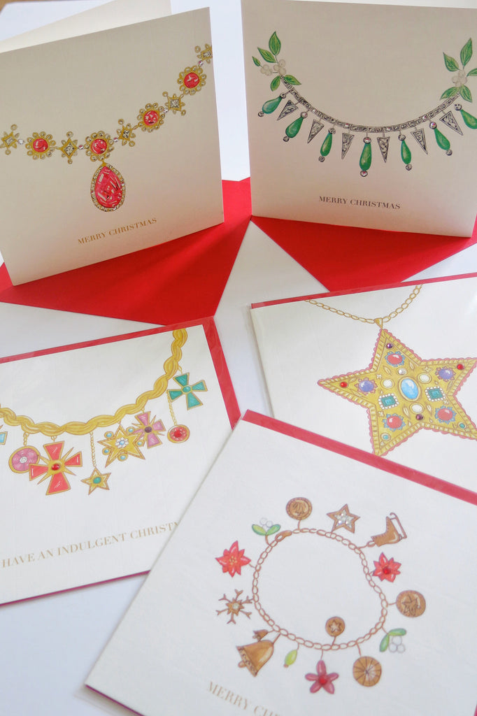 Bejewelled Christmas cards collection