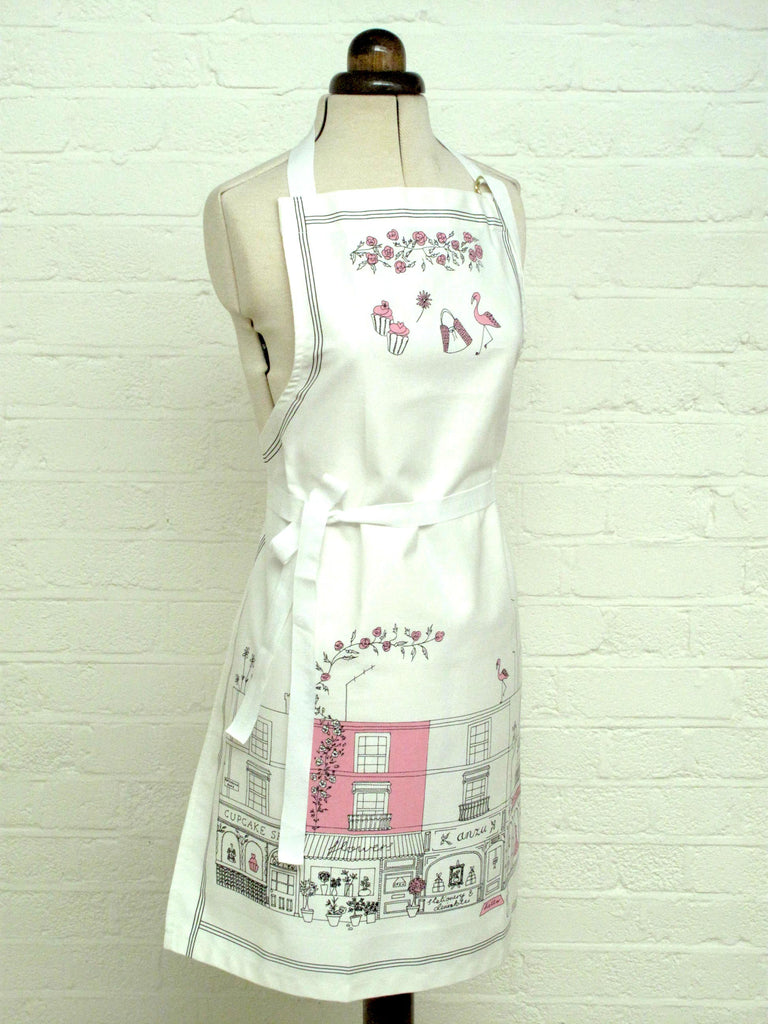 Notting Hill apron, pink