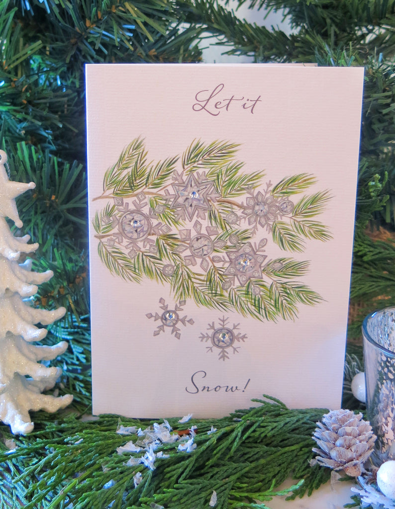 Snowflake Branches card