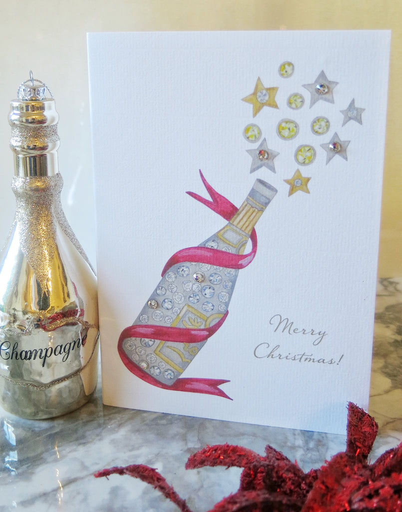 Christmas Champers card