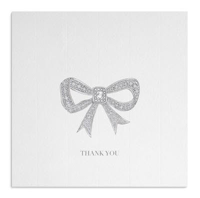 Diamond Bow Thank You card