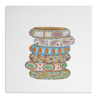 Indian bangles card