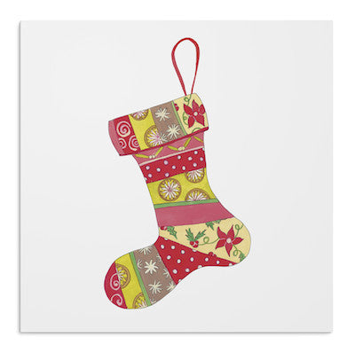 Ruby Christmas stockings card