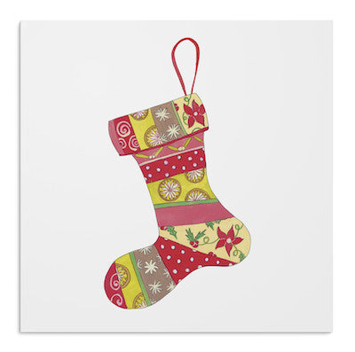 Christmas ruby stockings card