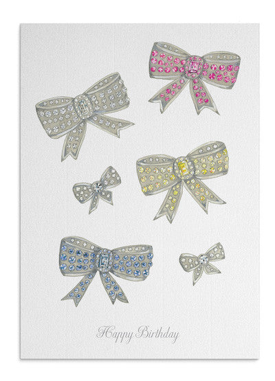 Jewel Birthday Bows card