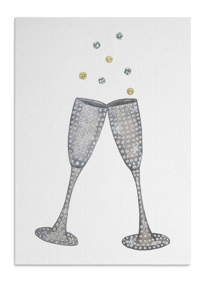 Jewelled Glasses card