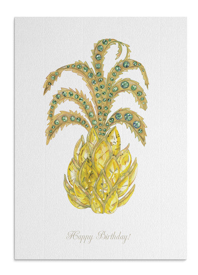 Jewel Pineapple card