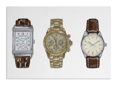 Classic watches card