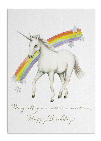 Unicorn Wishes card