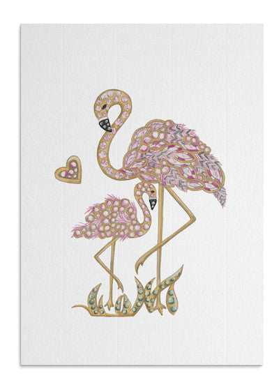 Flamingo Mum card