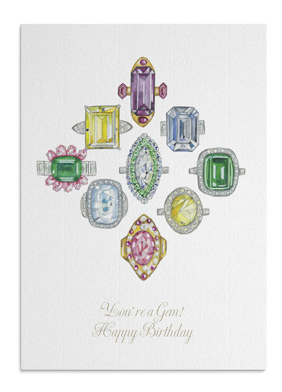 Gem rings card