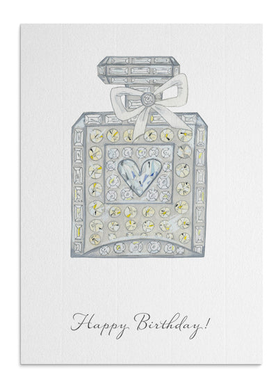 Perfume bottle card