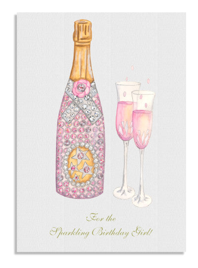 Pink Champers card