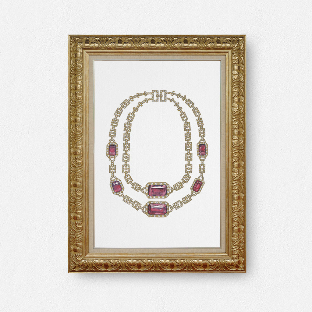 Ruby Necklace print