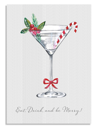 Christmas Cocktail card