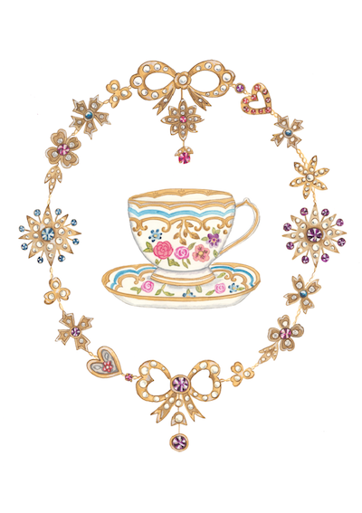 Jewelled Tea card