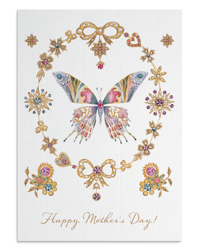 Butterfly Crest card