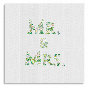 Flower Mr & Mrs card