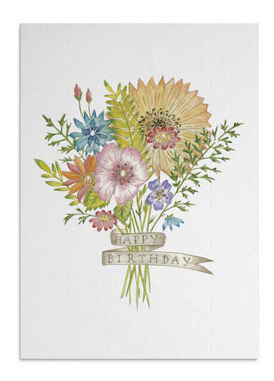 Wild Flower Bouquet card