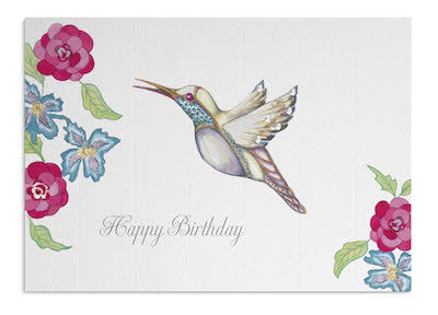 Tropical Hummingbird card