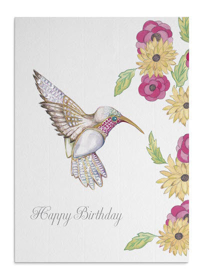 Jewel Hummingbird card