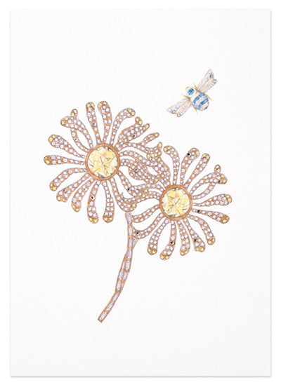 Jewelled daisy print