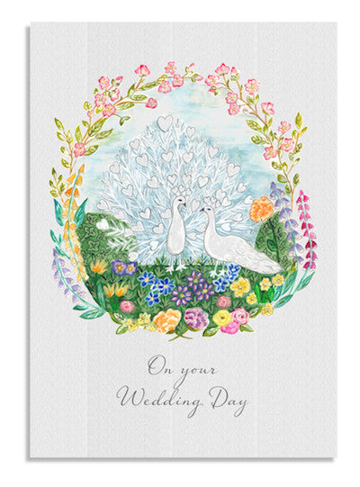 Peacock Wedding card NEW