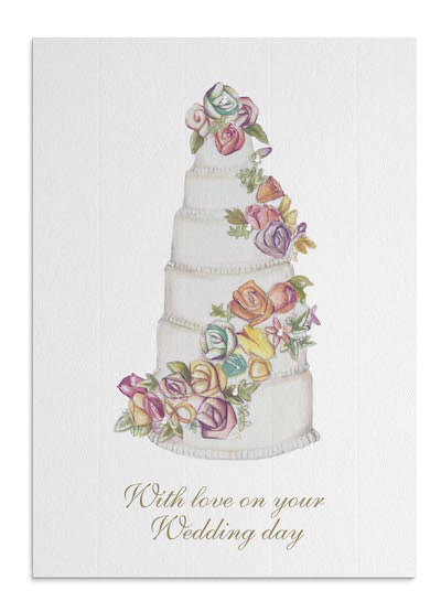 Rose Wedding Cake card
