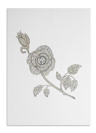 Jewelled Rose card