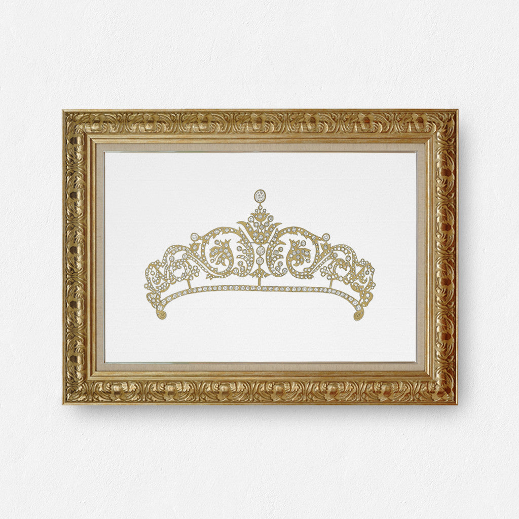 Rose gold tiara print