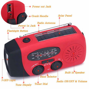 dynamo radio flashlight charger