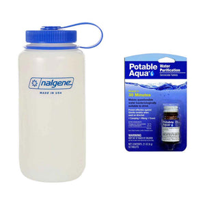potable aqua tabs nalgene water bottle