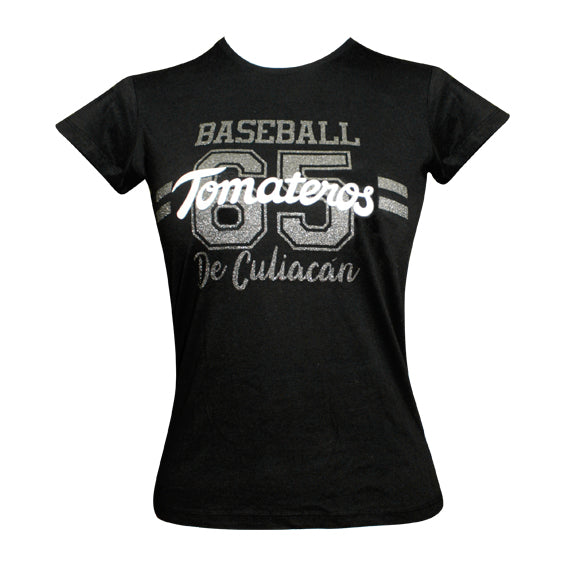 Playera Baseball Negro Tom Blanco
